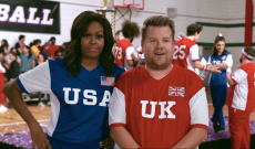 Watch Michelle Obama, James Corden Settle USA vs. U.K. Feud With Dodgeball