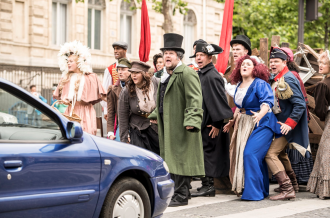 Watch James Corden Bring 'Crosswalk the Musical' to Paris