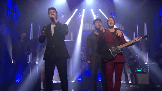 Watch Jonas Brothers' Upbeat Performance of 'Only Human' on 'Meyers'