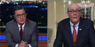 John Lithgow Channels Giuliani on 'Colbert'