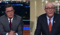 John Lithgow Channels Giuliani on 'Colbert'