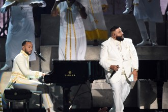 John Legend, Meek Mill and More Pay Tribute to Nipsey Hussle at the Grammys