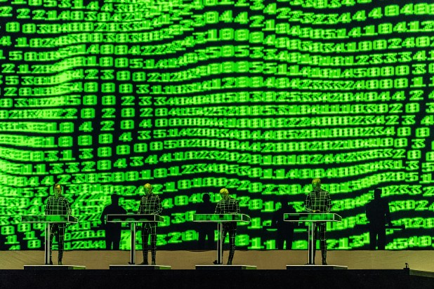 Editorial use onlyMandatory Credit: Photo by HAYOUNG JEON/EPA-EFE/Shutterstock (9877725ay)Members of German electronic music band Kraftwerk perform during the Lollapalooza Berlin 2018 at the Olympiastadion in Berlin, Germany, 09 September 2018. The music festival runs from 08 to 09 September.Lollapalooza Berlin 2018, Germany - 09 Sep 2018