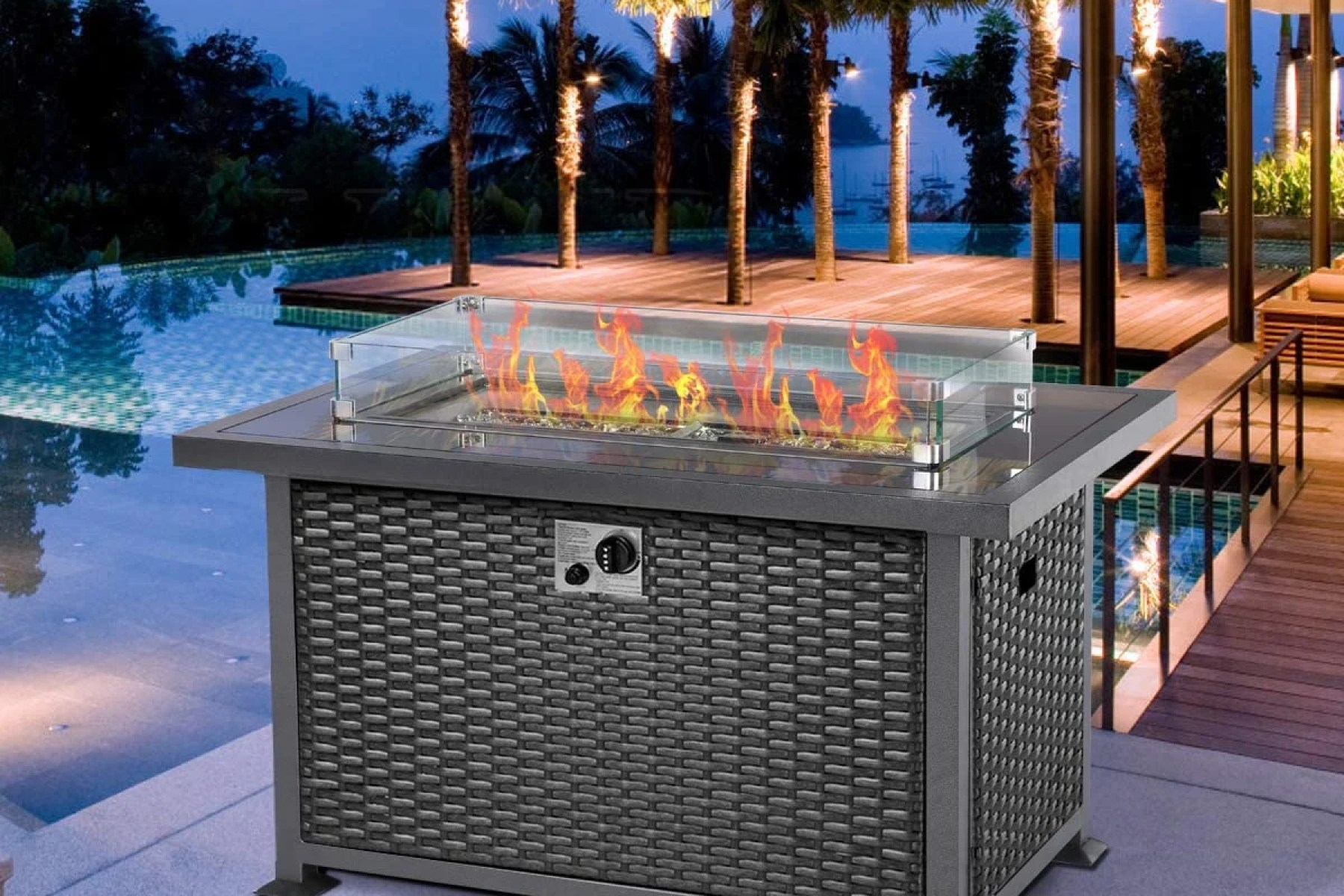 home garden gas fire pit table