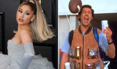 Celebs Are Bored: Ariana Grande Recreates 'Waterboy' Scene With Friends