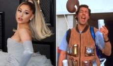 Celebs Are Bored: Ariana Grande Recreates 'Waterboy' Scene With Friends