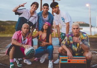CNCO, Natti Natasha Play Ball in New 'Honey Boo' Video