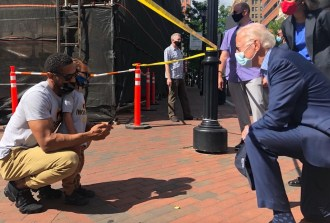 Biden Visits Protest Site While Trump Endorses Violent Pushback