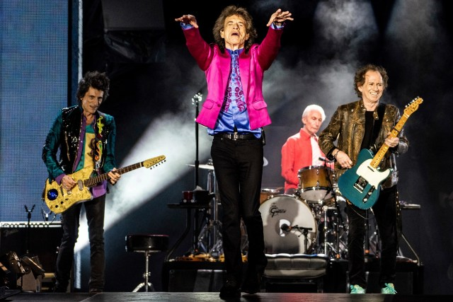 SANTA CLARA, CALIFORNIA - AUGUST 18: Ronnie Wood, Mick Jagger, Charlie Watts and Keith Richards of The Rolling Stones perform at Levi's Stadium on August 18, 2019 in Santa Clara, California. Photo: Chris Tuite/imageSPACE/MediaPunch /IPX
