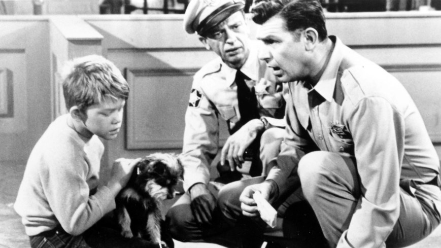 THE ANDY GRIFFITH SHOW, from left: Ron Howard, Don Knotts, Andy Griffith, 1960-68