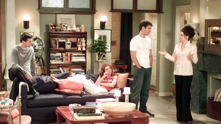 WILL & GRACE, Sean Hayes, Debra Messing, Eric McCormack, Megan Mullally, 'And The Horse He Rode In On', (Season 5, aired 09/26/02), 1998-2006
