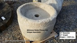 Millstone Roller Flower Pot