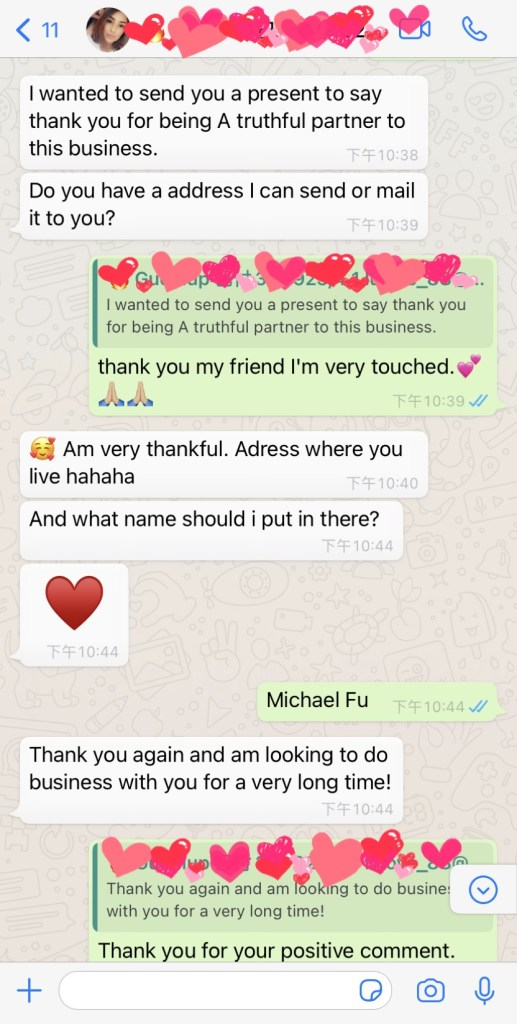 lash vendor Customer feedback