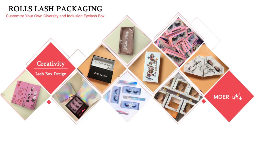 Rolls Lashes packaging