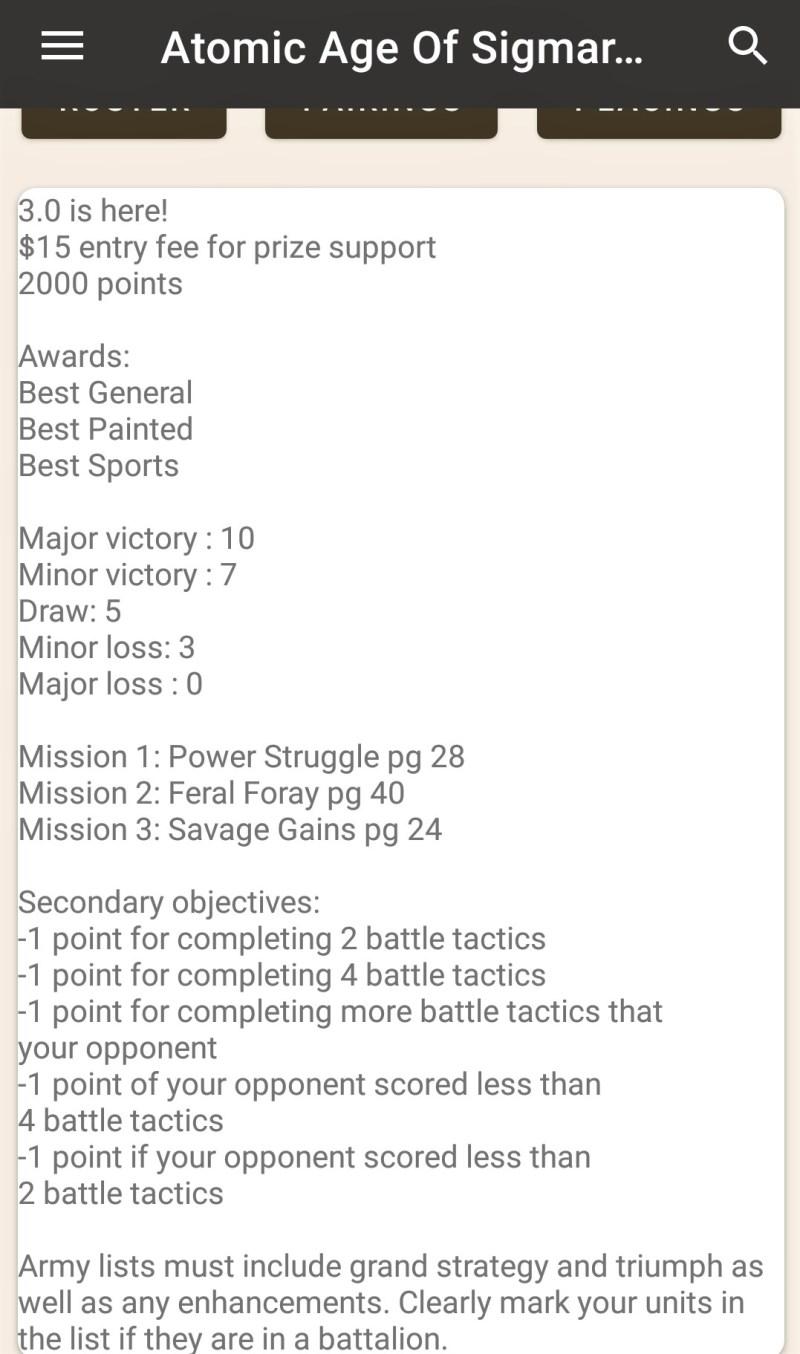 atomic tournament list