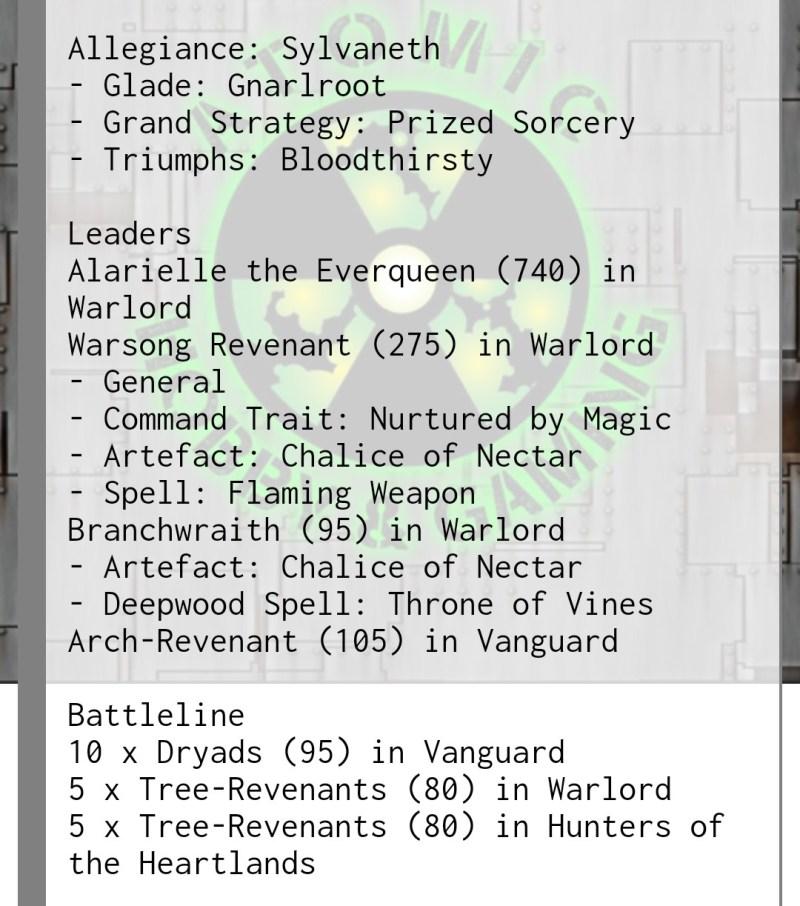 sylvaneth tournament list 3rd edition
