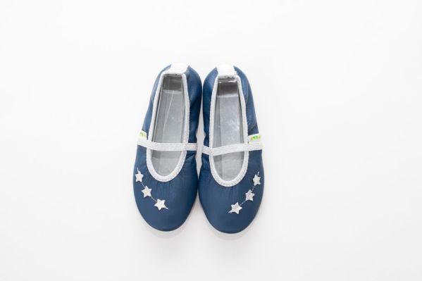 Šolski copati deklice beauty modre zvezdice