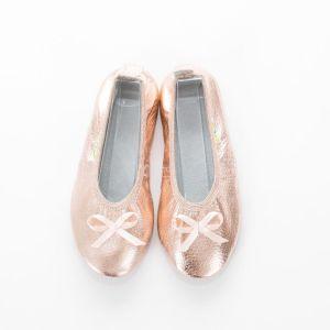 Solski copati ballerina rose gold balerinka punce