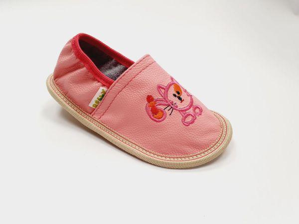 Rolly solski copati za vrtec toddler girl rosa iz usnja za malcke za punce