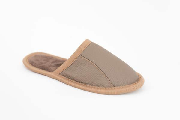 Rolly adult slippers home slippers sand from leather