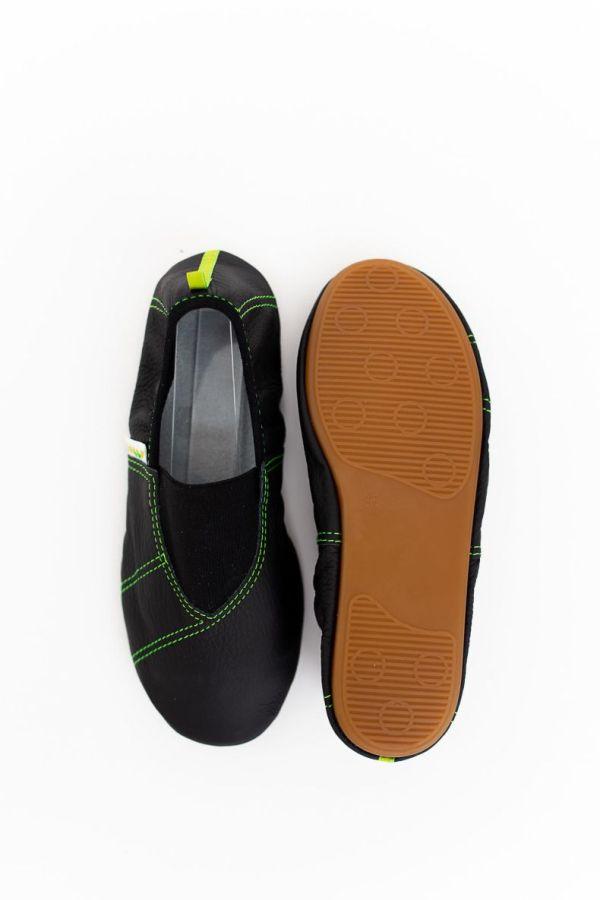 Rolly school slippers for kindergarten line green non slip sole for boys