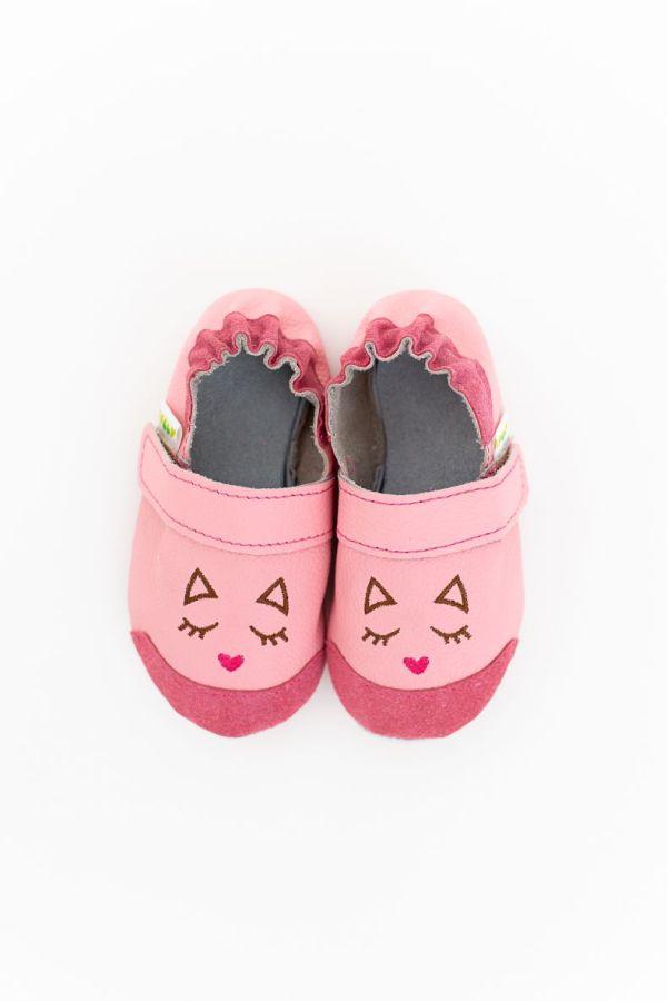 Rolly slippers toddler mini kitten pink