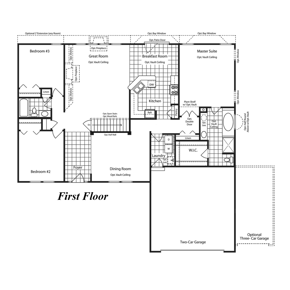 Simple Kitchen Floor Plan