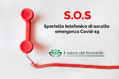 S.O.S COVID-19: E' ATTIVO LO SPORTELLO TELEFONICO GRATUITO DI ASCOLTO EMERGENZA VIRUS