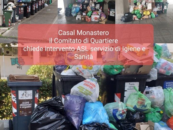 EMERGENZA RIFIUTI – Il Comitato di Quartiere Casal Monastero si rivolge all'Asl