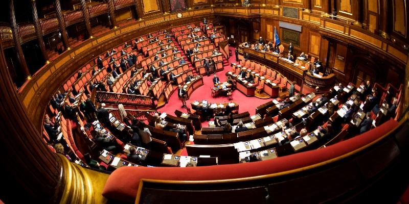 immagine della Sala del Senato della Reppubblica
