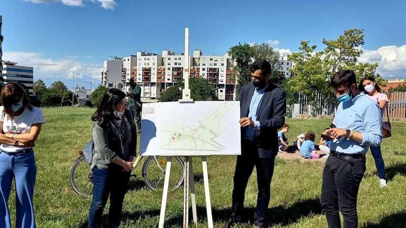 Municipio VIII – Riqualificazione di aree verdi in viale del Tintoretto.