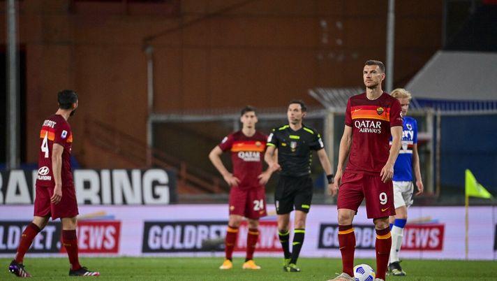 Sampdoria 2-0 Roma: crollo verticale dei giallorossi a Marassi