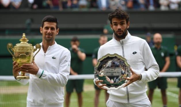 """Tennis Wimbledon, il Cannibale Djokovic non lascia """"speranze"""" ad un grande Berrettini."""