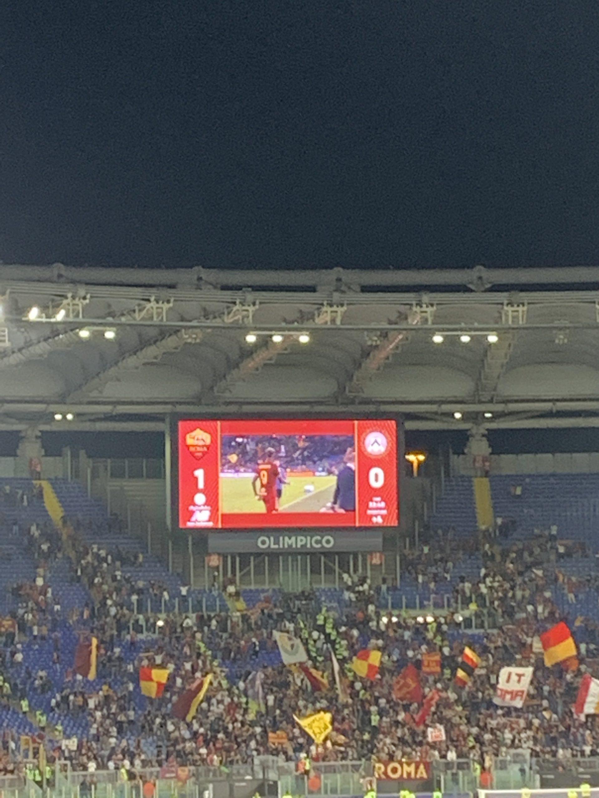 CRONACA ROMA-UDINESE terminata con la vittoria di misura dei giallorossi.