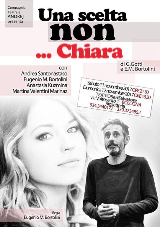 """""""Una scelta...non Chiara"""" commedia brillante in scena a Bologna al Teatro San Salvatore 11 e 12 novembre 2017"""
