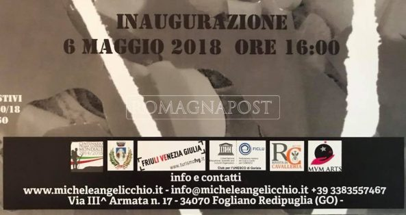 L'ARTISTA SOLDATO MICHELE ANGELICCHIO PRESENTE A REDIPUGLIA DAL 6 MAGGIO AL 30 GIUGNO 2018