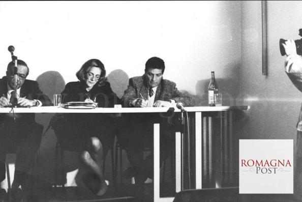 Sandro Cardulli, vice segretario della FILIS CGIL, ad un convegno sulla libertà di stampa, 1986