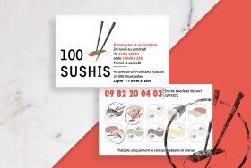 Identité visuelle du restaurant 100 Sushis