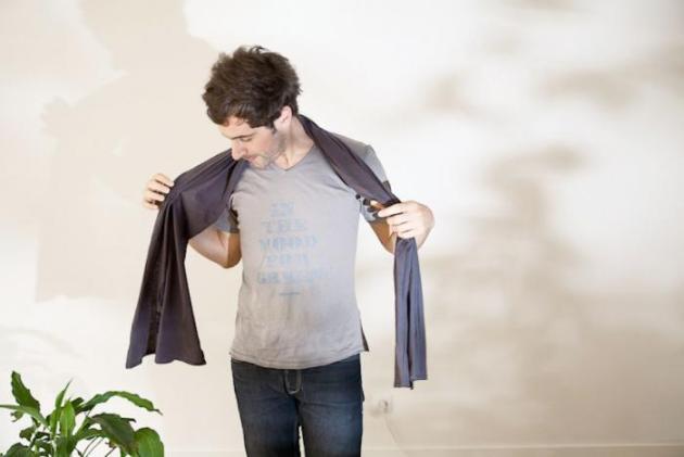 Tee-shirt Prince Wood Light Grey - Blue / coton bio