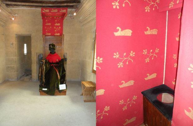 Tour Jean Sans Paur - Chambre et latrines