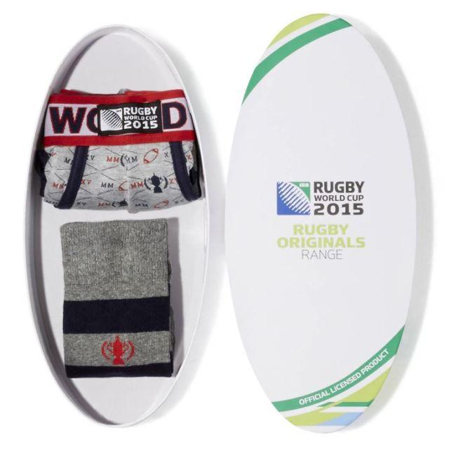 Coffret chaussettes & Boxer coton Celio - Coupe du Monde Rugby 2015