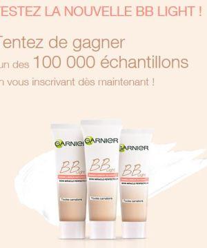Concours 100 000 échantillons crème BB Light Garnier à gagner