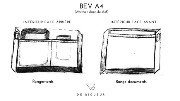 Le BEV Porte-documents - A4 : De Rigeur Maroquinerie