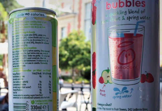Innocent Bubbles jus de fruit test et avis