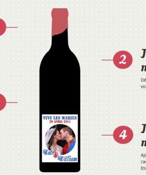 Bouteille de vin à personnaliser