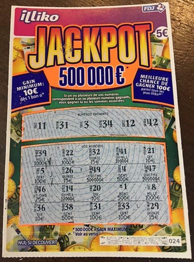 Jackpot illico gagnant 100 euros