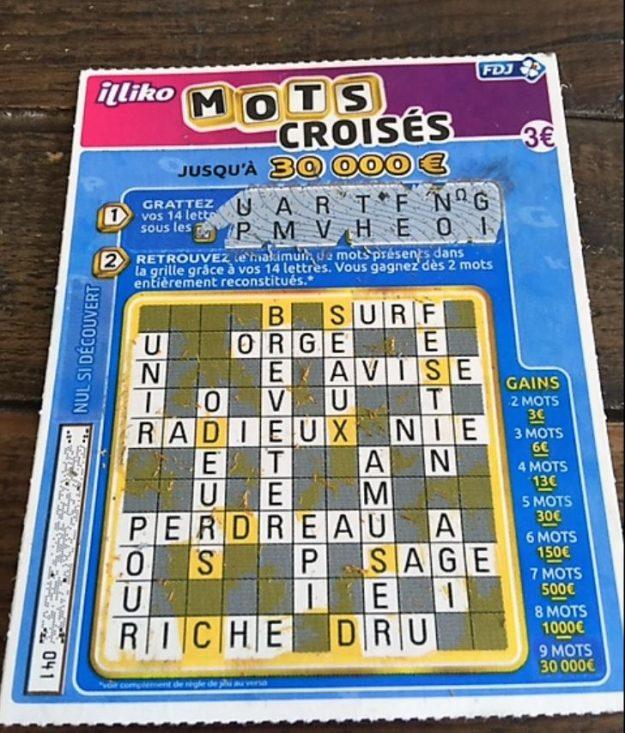 Illiko Mots Croisés gagnant 150€