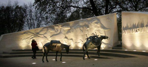 Memorial Londres animaux morts lors de Première Guerre Mondiale 1914 - 1918