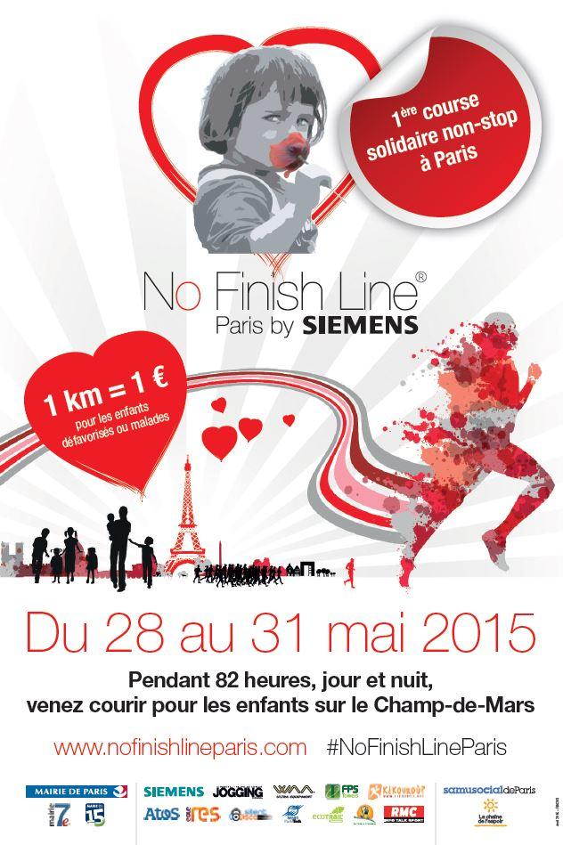 No Finish Line Paris by Siemens, première course solidaire soutenant les enfants !