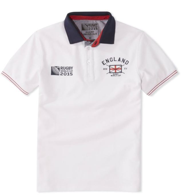 Polo coton Celio Rugby Word Cup Equipe d'Angleterre